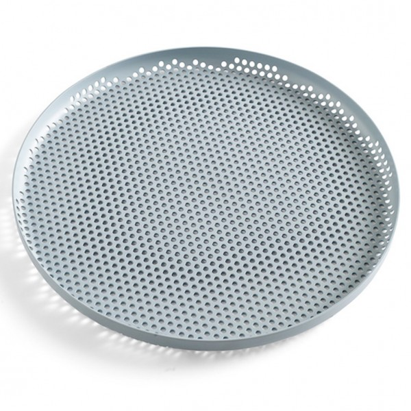 Tablett I Perforated Tray Dusty Blue L Hay Büro Schreibtisch