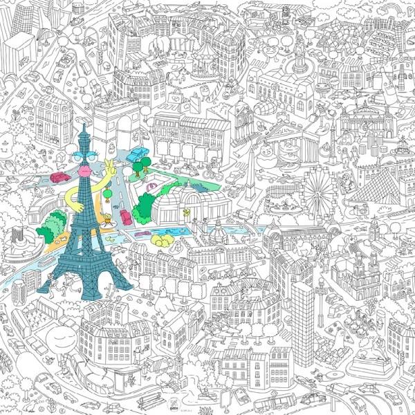 Ausmalposter Paris OMY Giant Poster