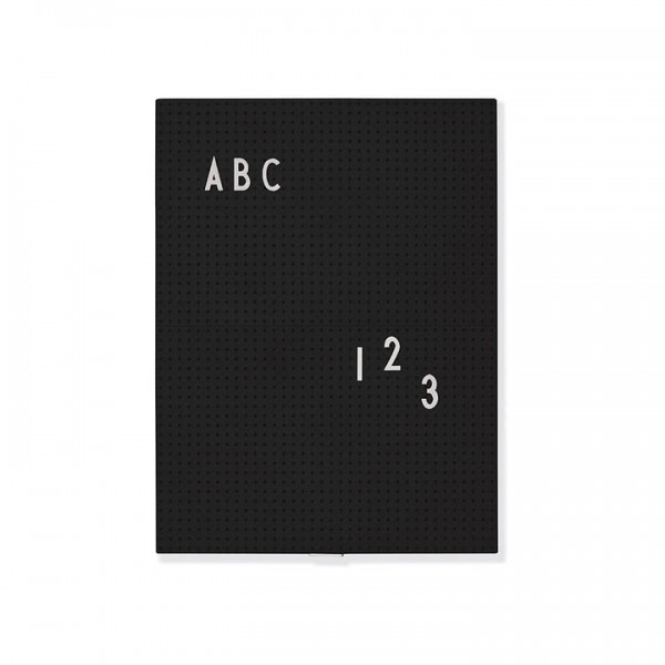 Message Board design Letters schwarz A4