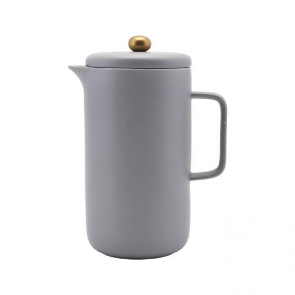 Kaffeekanne House Doctor grau Porzellan