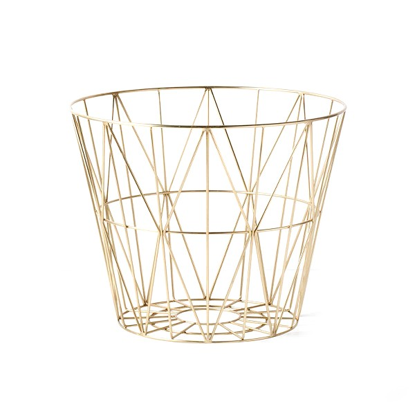 Wire Basket S Messing Ferm Living