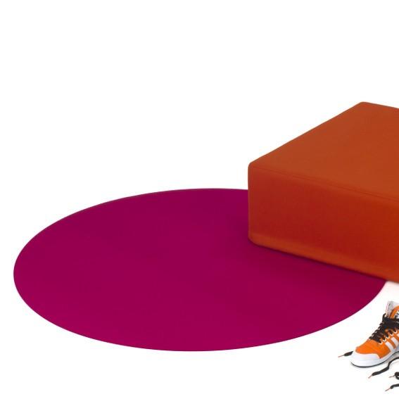 Filzteppich I Polka Ø 135 I Kreis in über 30 Farben