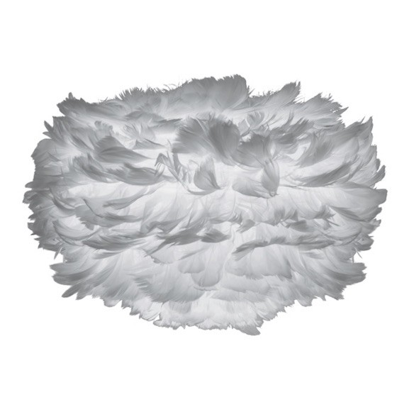 Eos Mini Leuchtenschirm Grau aus Federn Vita Umage
