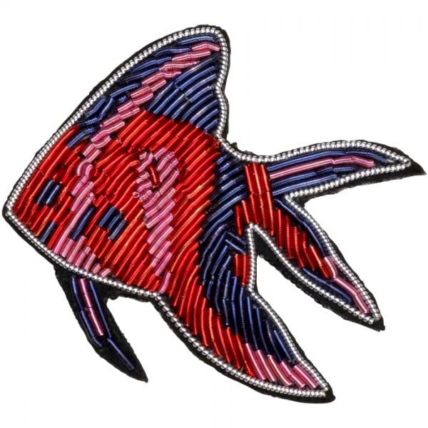 Brosche Fisch Feuerfisch blau rot rosa becksöndergaard