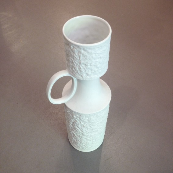 Vasen I weiß aus Porzellan I Vintage