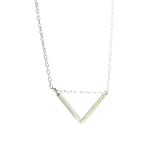 Dreieck Kette Triangel Recycling Silber Wild Fawn