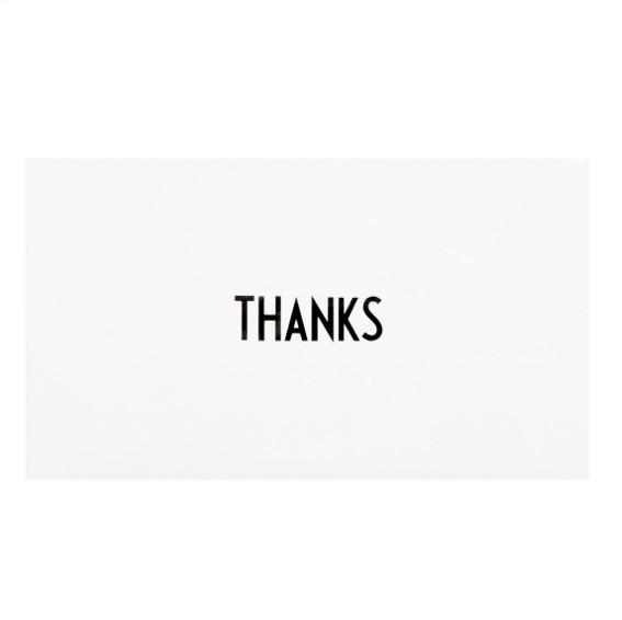 Grußkarte I Thanks I Design Letters