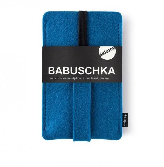 Wollfilz Handytasche Babuschka dekoop Petrol Blau
