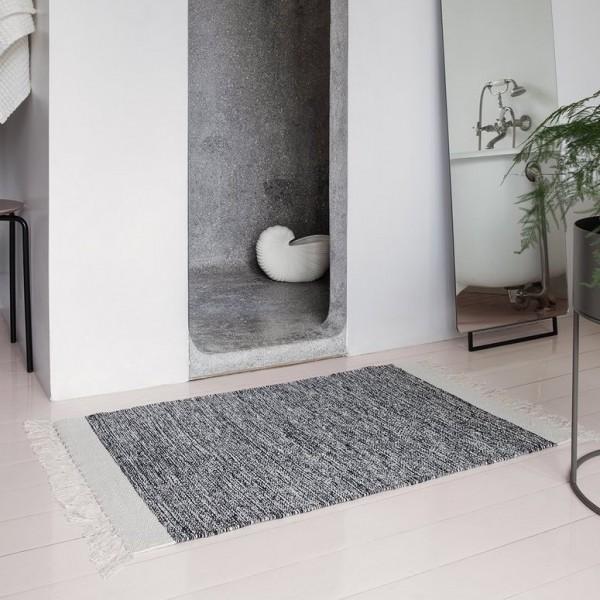 Melange Rug Teppich Ferm Living Blau Grau
