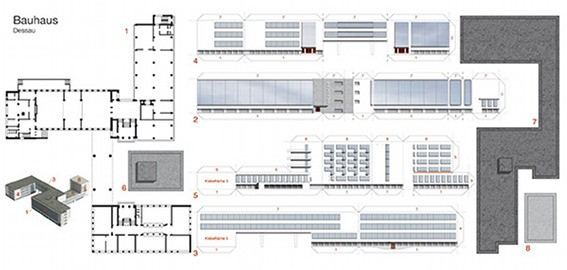 Bastelpostkarte I Bauhaus Dessau I Berliner Luft