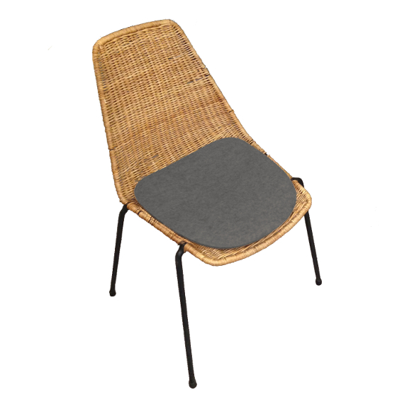 sitzauflage l basket chair i gian franco legler sitzauflagen wohnen. Black Bedroom Furniture Sets. Home Design Ideas