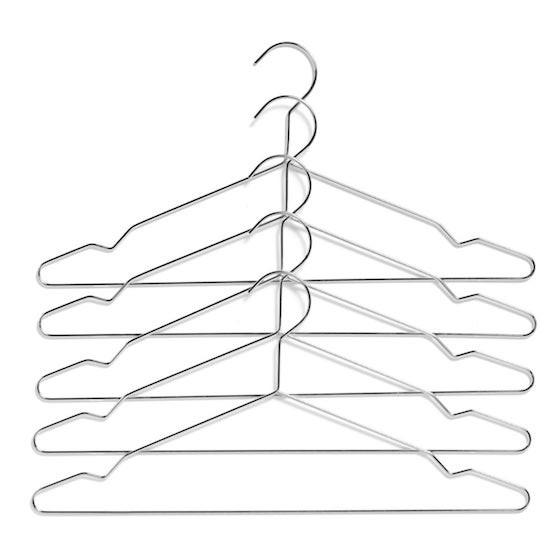 Hay Kleiderbügel Hang Silber 5er Set RaumFormPlan