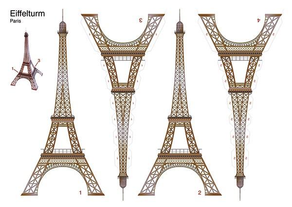 Bastelpostkarte I Eiffelturm Paris I Berliner Luft