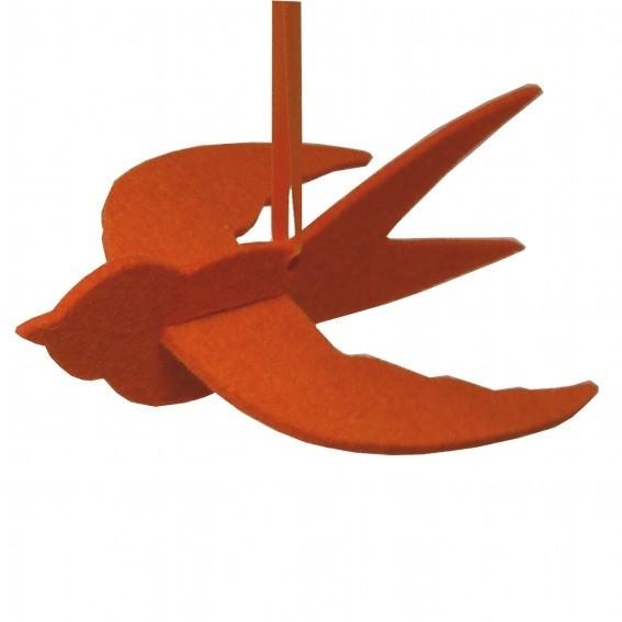 Filzschwalbe Seebastian - Dekoration aus Wollfilz