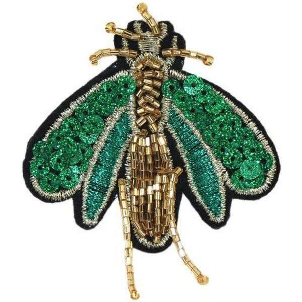 Brosche Käfer zum anstecken Schmuck mit Pailletten und Glitzer Fliege