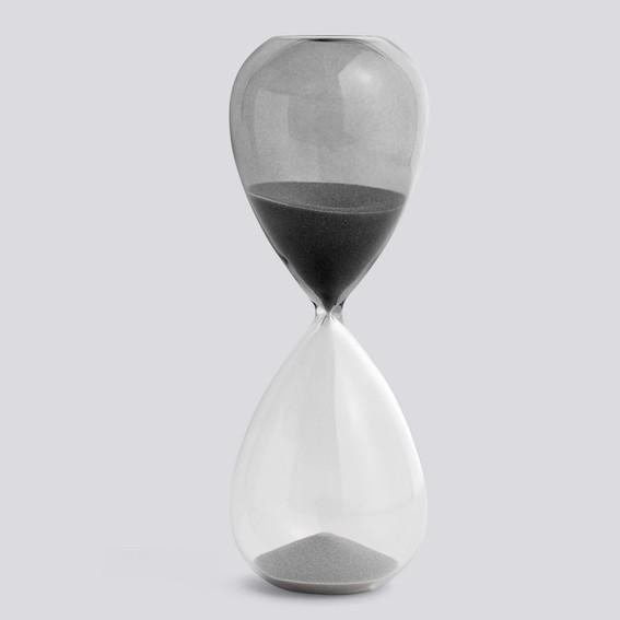 Sanduhr Hay L 30 minute Grau Raumformplan