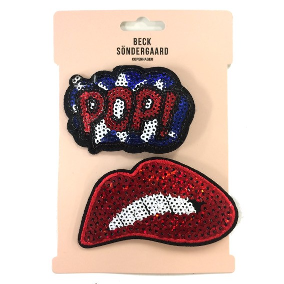 Brosche Pop Lips Set becksöndergaard