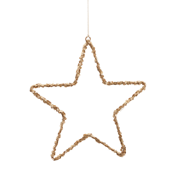 Stern Ornament Star Gold 21cm House Doctor
