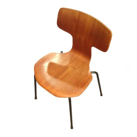 Stuhl 3103 Hammer Chair Fritz Hansen Arne jacobsen danish design Vintage Holz Teak