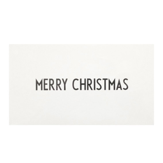 Grußkarte I Merry Christmas I Design Letters