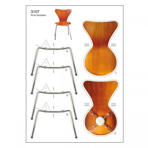 Bastelpostkarte I 3107 Serie 7 Arne Jacobsen I Berliner Luft